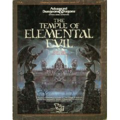 Dungeons and Dragons 1st ed: the Temple of Elemental Evil - Used