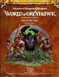 Dungeons and Dragons 1st ed: World of Greyhawk: Isle of the Ape - Used
