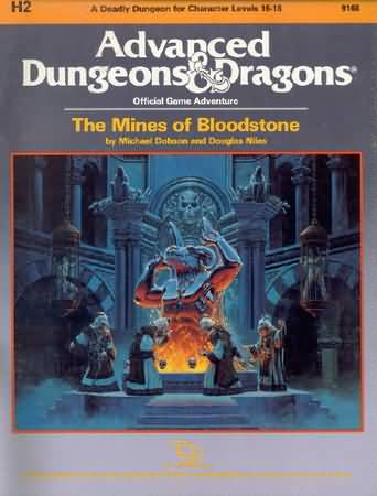 Dungeons and Dragons 1st ed: The Mines of Bloodstone - Used