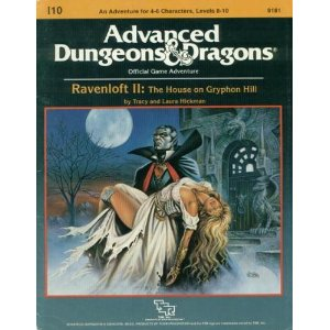 Dungeons and Dragons 1st ed: Ravenloft II: the House on Gryphon Hill - Used