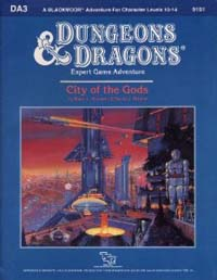 Dungeons and Dragons 1st ed: City of the Gods - Used