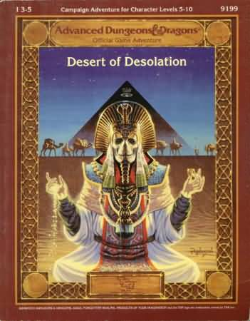 Dungeons and Dragons 2nd ed: Forgotten Realms: Desert of Desolation - Used