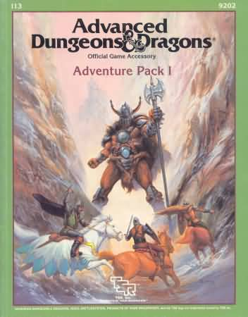 Dungeons and Dragons 1st ed: Adventure Pack I - Used