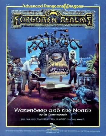 Dungeons and Dragons 2nd ed: Forgotten Realms: Waterdeep and the North - Used