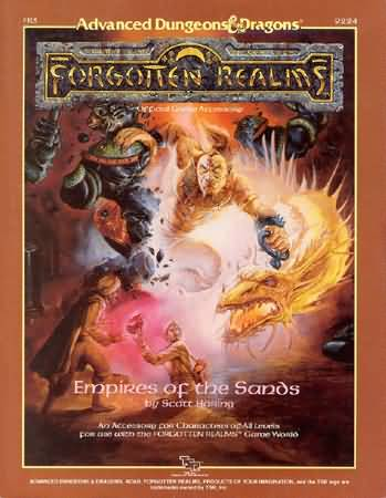 Dungeons and Dragons 1st ed: Forgotten Realms: Empires of the Sands - Used