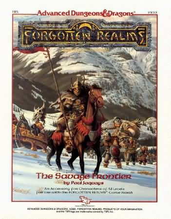Dungeons and Dragons 2nd ed: Forgotten Realms: the Savage Frontier - Used