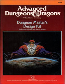 Dungeons and Dragons 2nd ed: Dungeon Masters Design Kit - Used