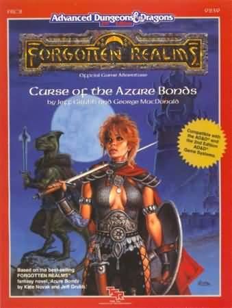 Dungeons and Dragons 2nd ed: Forgotten Realms: Curse of the Azure Bonds