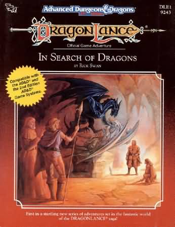 Dungeons and Dragons 2nd ed: DragonLance: in Search of Dragons - Used