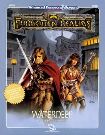 Dungeons and Dragons 2nd ed: Forgotten Realms: Waterdeep - Used