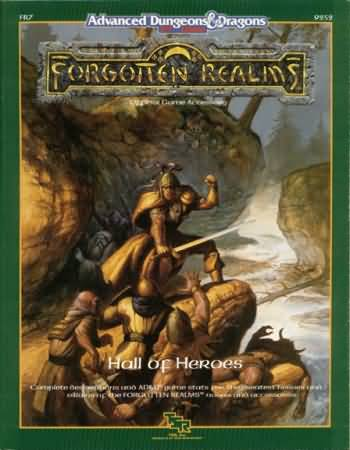 Dungeons and Dragons 2nd ed: Forgotten Realms: Hall of Heroes - Used