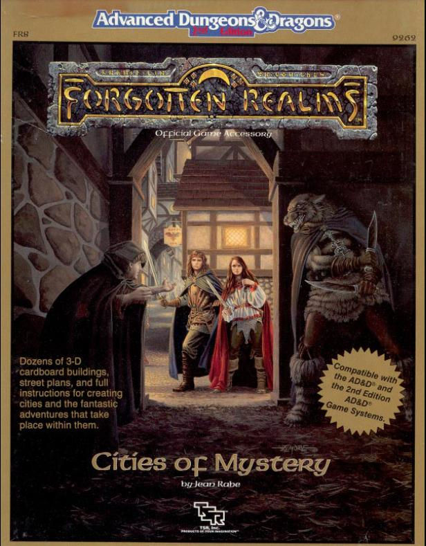 Dungeons and Dragons 2nd ed: Forgotten Realms: Cities of Mystery Box Set