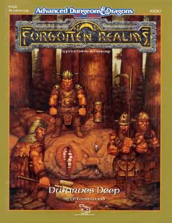 Dungeons and Dragons 2nd ed: Forgotten Realms: Dwarves Deep - Used