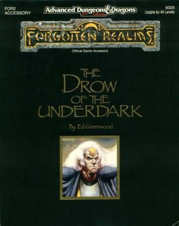 Dungeons and Dragons 2nd ed: Forgotten Realms: the Drow of the Underdark - Used