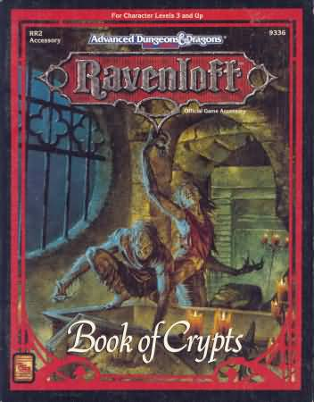 Dungeons and Dragons 2nd ed: Ravenloft: Book of Crypts - Used