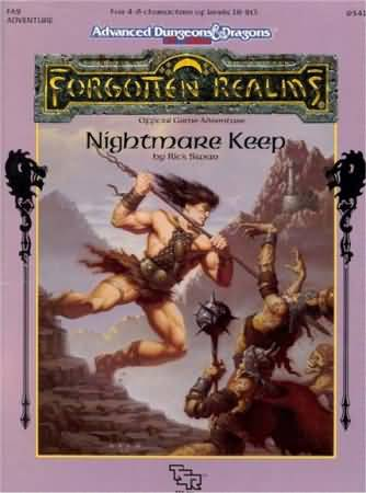 Dungeons and Dragons 2nd ed: Forgotten Realms: Nightmare Keep - Used