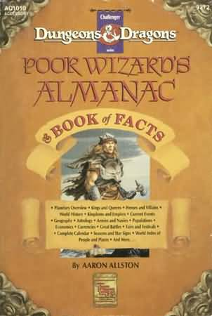 Dungeons and Dragons 2nd ed: Poor Wizards Almanac: Book of Facts