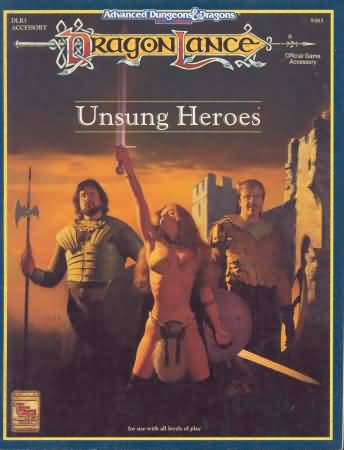 Dungeons and Dragons 2nd ed: Dragon Lance: Unsung Heroes - Used