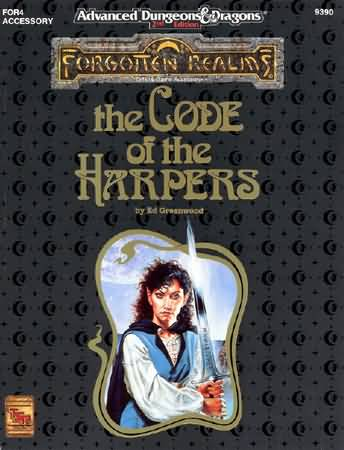 Dungeons and Dragons 2nd ed: Forgotten Realms: the Code of the Harpers - Used