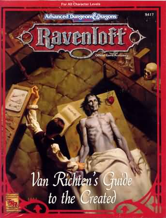 Dungeons and Dragons 2nd ed: Ravenloft: Van Richtens Guide to the Created - Used