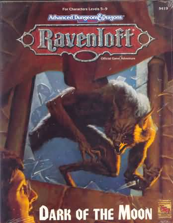 Dungeons and Dragons 2nd ed: Ravenloft: Dark of the Moon - Used