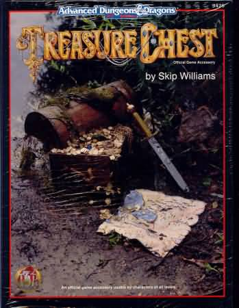 Dungeons and Dragons 2nd ed: Treasure Chest - Used