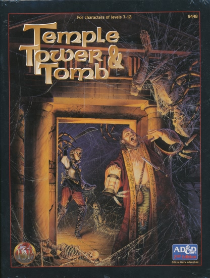 Dungeons and Dragons 2nd ed: Temple Tower and Tomb - Used