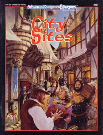 Dungeons and Dragons 2nd ed: City Sites - Used