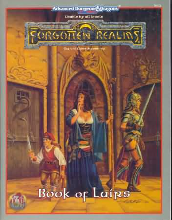 Dungeons and Dragons 2nd ed: Forgotten Realms: Book of Lairs - Used