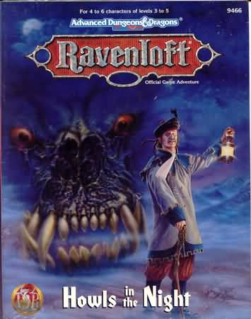 Dungeons and Dragons 2nd ed: Ravenloft: Howls in the Night - Used