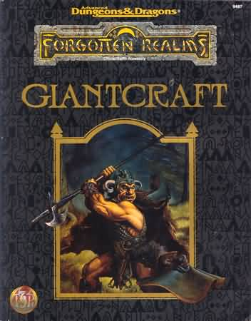 Dungeons and Dragons 2nd ed: Forgotten Realms: Giantcraft - Used