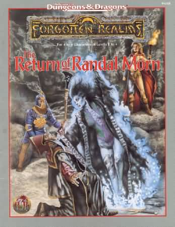 Dungeons and Dragons 2nd ed: Forgotten Realms: the Return of Randal Morn - Used
