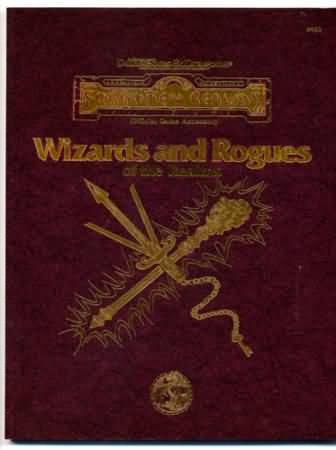 Dungeons and Dragons 2nd ed: Forgotten Realms: Wizards and Rogues of the Realms - Used