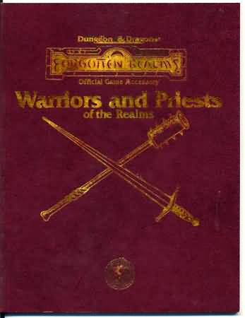 Dungeons and Dragons 2nd ed: Forogtten Realms: Warriors and Priests of the Realms - Used