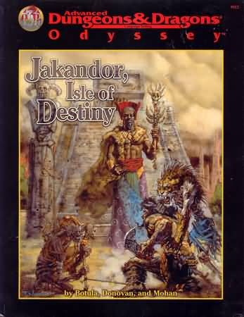 Dungeons and Dragons 2nd ed: Odyssey: Jakandor, Isle of Destiny - Used