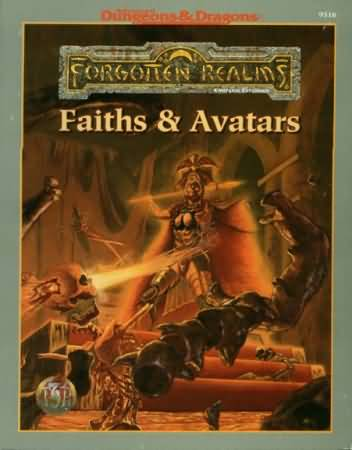 Dungeons and Dragons 2nd ed: Forgotten Realms: Faiths and Avatars - USED