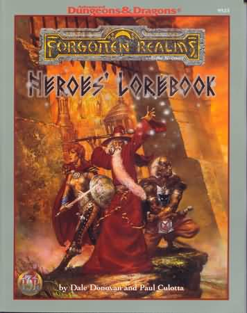 Dungeons and Dragons 2nd ed: Forgotten Realms: Heroes Lorebook - Used