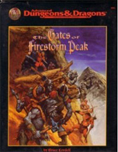 Dungeons and Dragons 2nd ed: The Gates of Firestorm Peak - Used