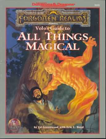 Dungeons and Dragons 2nd ed: Forgotten Realms: Volos Guide to All Things Magical - Used