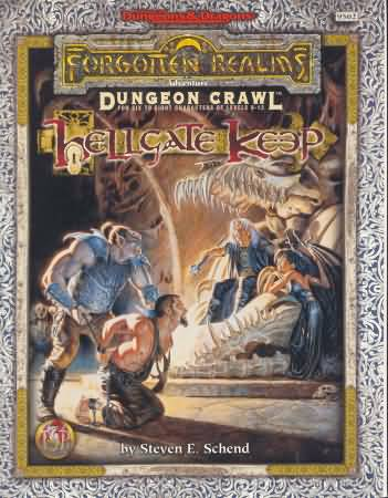Dungeons and Dragons 2nd ed: Forgotten Realms: Dungeon Crawl: Hellgate Keep - Used