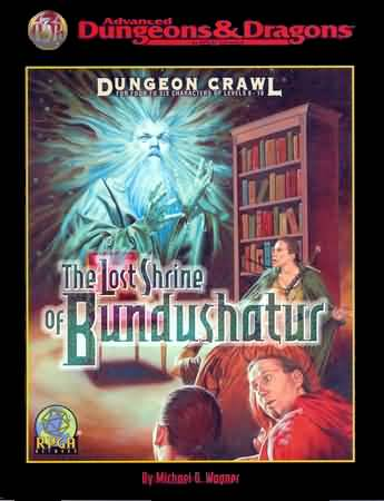 Dungeons and Dragons 2nd ed: Dungeon Crawl: the Lost Shrine of Bunddushatus - USED