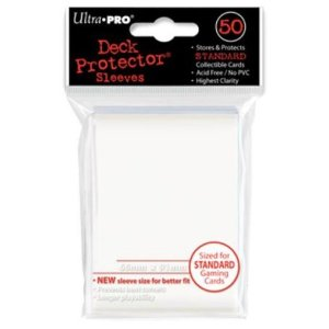 Deck Protector: 100 sleeves: Solid White