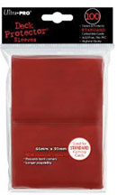 Deck Protector: 100 sleeves: New Standard Red Red