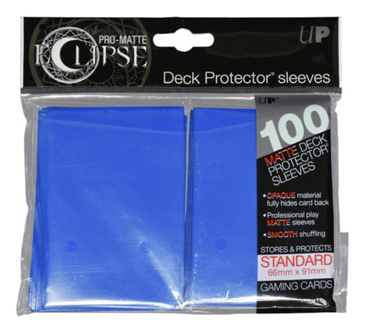 Deck Protector: Eclipse Pro Matte Blue (100 Sleeves)