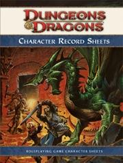 Dungeons and Dragons 4th ed: Character Record Sheets: Original