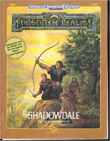 Dungeons and Dragons 2nd ed: Forgotten Realms: Shadowdale - Used