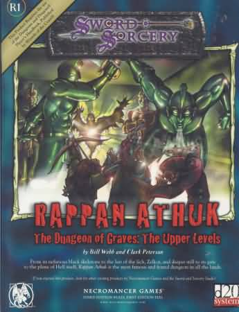 Sword Sorcery: Rappan Athuk: The Dungeon of Graves: The Upper Levels d20 - Used