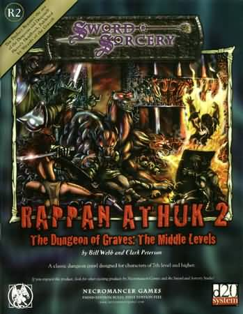 Sword Sorcery: Rappan Athuk 2: the Dungeon of Graves: the Middle Levels - Used