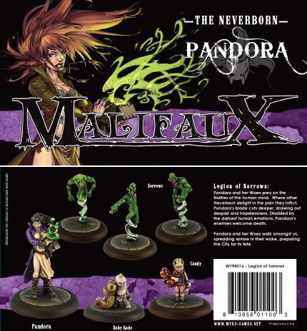 Malifaux: Neverborn: Pandora Box set: Legion of Sorrows - Used