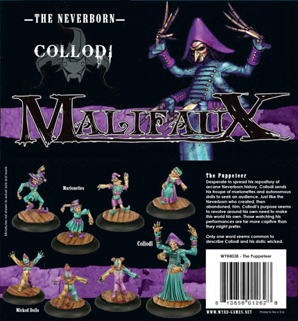 Malifaux: Neverborn: Collodi the Puppeteer Box Set - Used